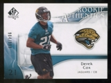 2009 Upper Deck SP Authentic #254 Derek Cox /999