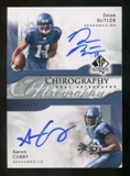 2009 Upper Deck SP Authentic Chirography Duals #BC Aaron Curry/Deon Butler Autograph /75
