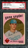 1959 Topps Baseball #522 Gene Snyder PSA 8 (NM-MT) *1458