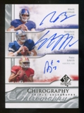 2009 Upper Deck SP Authentic Chirography Triples #BMD Rhett Bomar/Nate Davis/Stephen McGee Autograph /35