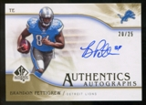 2009 Upper Deck SP Authentic Autographs Gold #SPBP Brandon Pettigrew Autograph  25