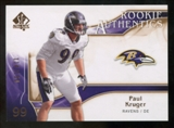 2009 Upper Deck SP Authentic Bronze #207 Paul Kruger /150