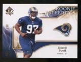 2009 Upper Deck SP Authentic Bronze #294 Darell Scott /150