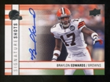 2009 Upper Deck Signature Shots #SSBE Braylon Edwards Autograph