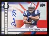2009 Upper Deck Signature Shots #SSDB Donald Brown Autograph