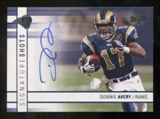 2009 Upper Deck Signature Shots #SSDA Donnie Avery Autograph