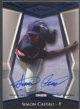 2011 TRISTAR Pursuit #24 Simon Castro Blue Rookie Auto #40/50
