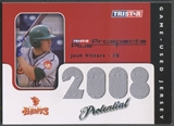 2008 TRISTAR Prospects Plus #PJV Josh Vitters PROtential Game Used Jersey