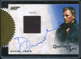 James Bond Autographs and Relics Daniel Craig Autograph Relic /155 (Rittenhouse 2013)