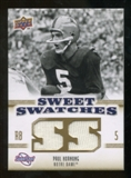 2010 Upper Deck Sweet Spot Sweet Swatches #SSW74 Paul Hornung