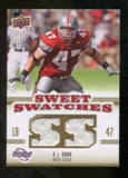 2010 Upper Deck Sweet Spot Sweet Swatches #SSW1 A.J. Hawk