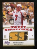 2010 Upper Deck Sweet Spot Sweet Swatches #SSW4 Ben Roethlisberger