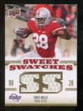 2010 Upper Deck Sweet Spot Sweet Swatches #SSW15 Chris Wells