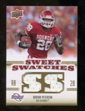 2010 Upper Deck Sweet Spot Sweet Swatches #SSW48 Adrian Peterson