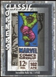 2012 Upper Deck Marvel Premier Classic Corners #CC7 Incredible Hulk (vol. 1) #102 D