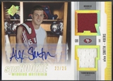 2005 SPx #AS Alex Smith Rookie Winning Materials Jersey Auto #22/25