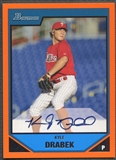 2007 Bowman Prospects #BP111 Kyle Drabek Orange Rookie Auto /250