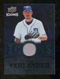 2009 Upper Deck Icons Icons Jerseys #VE Justin Verlander