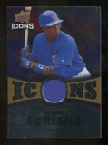 2009 Upper Deck Icons Icons Jerseys Gold #AS Alfonso Soriano /25