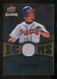 2009 Upper Deck Icons Icons Jerseys Gold #CJ Chipper Jones /25