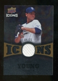 2009 Upper Deck Icons Icons Jerseys Gold #CY Chris Young /25