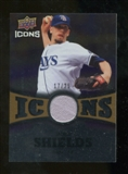 2009 Upper Deck Icons Icons Jerseys Gold #JS James Shields /25