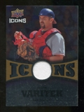 2009 Upper Deck Icons Icons Jerseys Gold #JV Jason Varitek /25