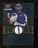 2009 Upper Deck Icons Icons Jerseys Gold #PO Jorge Posada /25