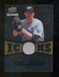 2009 Upper Deck Icons Icons Jerseys Gold #RH Roy Halladay /25