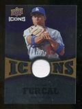 2009 Upper Deck Icons Icons Jerseys Gold #RF Rafael Furcal /25
