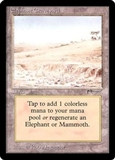 Magic the Gathering Arabian Nights Single Elephant Graveyard - MODERATE PLAY (MP)