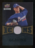 2009 Upper Deck Icons Icons Jerseys Gold #TG Tom Glavine /25