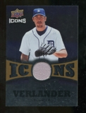 2009 Upper Deck Icons Icons Jerseys Gold #VE Justin Verlander /25