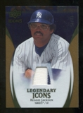 2009 Upper Deck Icons Legendary Icons Jerseys Gold #RJ Reggie Jackson /25