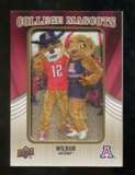 2013 Upper Deck College Mascot Manufactured Patch #CM64 Wilbur D