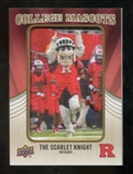 2013 Upper Deck College Mascot Manufactured Patch #CM82 Scarlet Knight D
