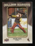 2013 Upper Deck College Mascot Manufactured Patch #CM90 Pistol Pete D