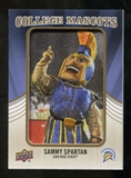 2013 Upper Deck College Mascot Manufactured Patch #CM97 Sammy Spartan C