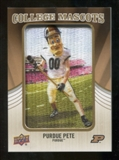 2013 Upper Deck College Mascot Manufactured Patch #CM107 Purdue Pete B