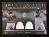 2009 Upper Deck Sweet Spot Swatches Dual #VO David Ortiz/Jason Varitek