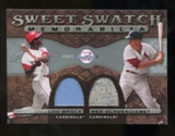 2009 Upper Deck Sweet Spot Swatches Dual #BS Red Schoendienst Lou Brock