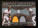 2009 Upper Deck Sweet Spot Swatches Dual #SR Ozzie Smith Jose Reyes