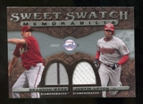 2009 Upper Deck Sweet Spot Swatches Dual #UW Justin Upton/Brandon Webb