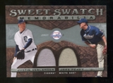 2009 Upper Deck Sweet Spot Swatches Dual #PV Jake Peavy Justin Verlander