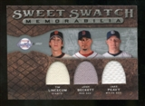 2009 Upper Deck Sweet Spot Swatches Triple #BPL Josh Beckett Tim Lincecum Jake Peavy