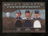 2009 Upper Deck Sweet Spot Swatches Triple #FMM Brian McCann Carlton Fisk Joe Mauer