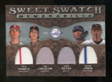 2009 Upper Deck Sweet Spot Swatches Quad #GNY Tim Lincecum Adam Jones Jose Reyes Cole Hamels