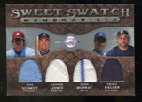 2009 Upper Deck Sweet Spot Swatches Quad #CNR Mike Schmidt Prince Fielder Chipper Jones Eddie Murray