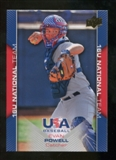 2009/10 Upper Deck USA Baseball #USA57 Evan Powell