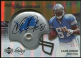 2007 Upper Deck Sweet Spot Rookie Signatures Gold #135 Calvin Johnson RC Autograph 12/15